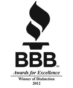 BBB Winner of Distinction 2012